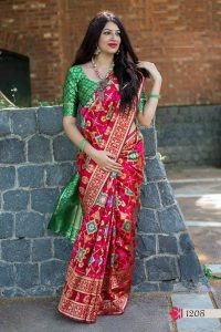 red saree online