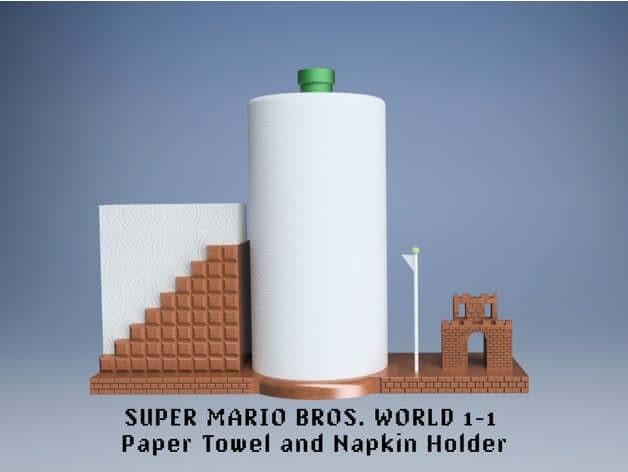 Modular Super Mario Bros Paper Towel and Napkin Holder