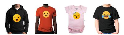 Pre-Decorated Emoji Apparel on Gubbacci.com